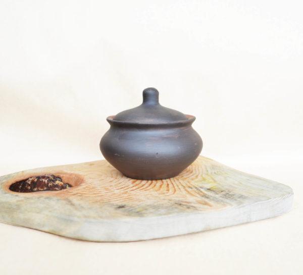 Порционный горшочек (0,45л)  - чернолощение