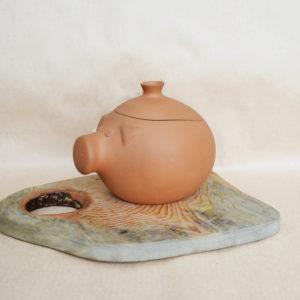 Глиняная жаровня (1,5л) - терракотовая