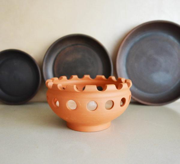 Глиняная сковорода кеци (30см)