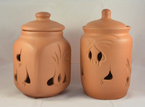 Глиняная банка для хранения чеснока (1,3л)