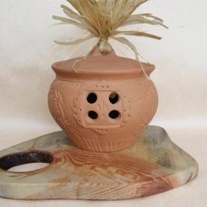 Глиняный горшок для хранения лука (2,5л)