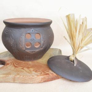 Керамический горшок для хранения лука (2,5л)