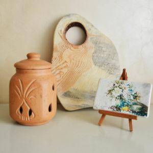 Глиняный горшок для хранения чеснока (1,3л)