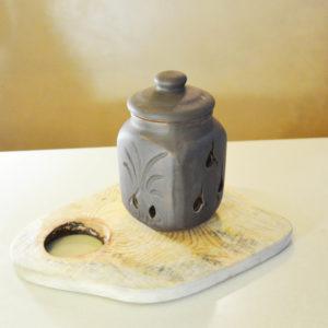 Чернолощеный горшок для чеснока (1,3л)