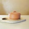 Круглая глиняная миска-жаровня