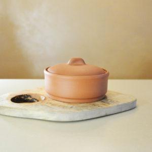 Круглая глиняная миска-жаровня (0,75 л)