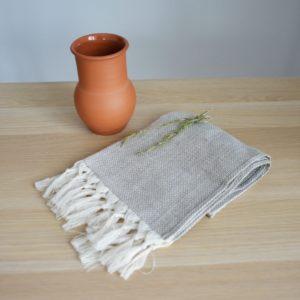 Кухонное полотенце из льна серое