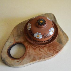 Глиняная масленка 'Цветок'