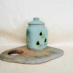 Горшок из глины для хранения чеснока (1,3л)