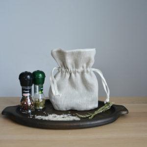 Льняной мешочек для хранения трав 23х22