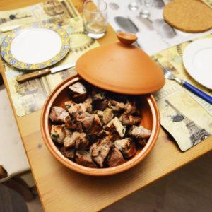 Блюдо для шашлыка (1,3л) терракот