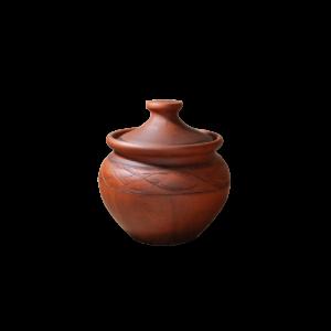 Порционный горшочек (0,6л) с глазурью