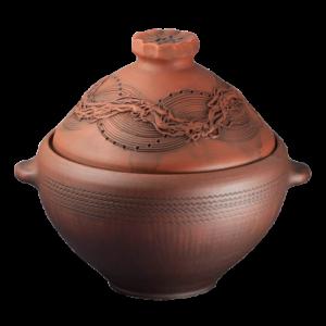 Глиняная гусятница - молочение