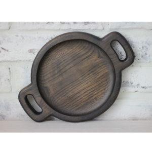 Дубовая тарелка 'Уголь' (д-20 см)