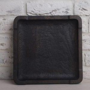 Квадратная тарелка из ясеня (30х30 см)