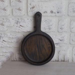Дубовая сковородка 'Уголь' (д-14 см)