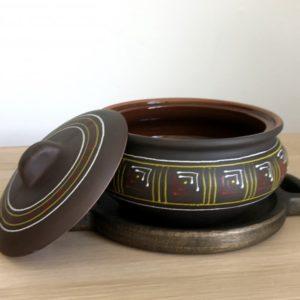 Глиняный горшок (1,6л) -  чернолощение