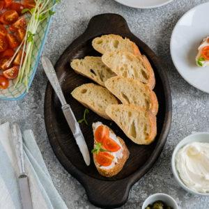 Тарелка для хлеба и сыра 'уголь'