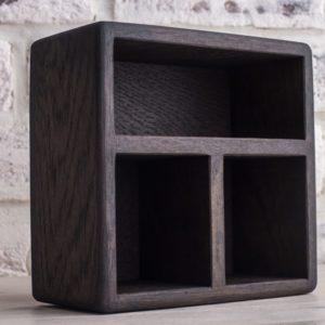 Салфетница из дерева 'Уголь' (15х15х8 см)