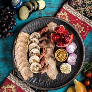 Большое деревянное блюдо для подачи (35см)
