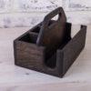 Подставка под салфетки 16,5 см и специи 'Уголь'