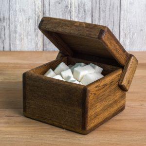 Деревянная коробочка - (0,9л) орех