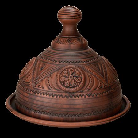Глиняная блинница 'Фигурная' (31 см)