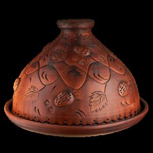 Блинница глиняная 'Земляника' (31 см)
