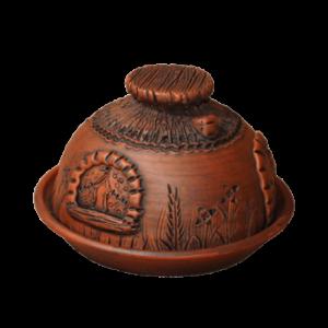Масленка глиняная 'Домик'