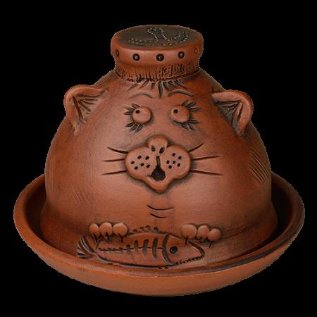 Масленка глиняная 'Котик'